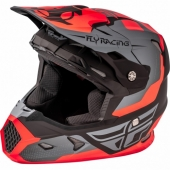 CASQUE CROSS FLY RACING TOXIN orange mat/noir/gris casques