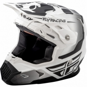 CASQUE CROSS FLY RACING TOXIN blanc mat/noir 2018 casques