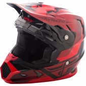 CASQUE CROSS FLY RACING TOXIN rouge/noir 2018 casques