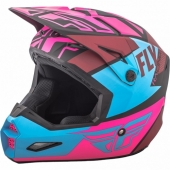 CASQUE CROSS FLY RACING ELITE GUILD noir/rose/bleu 2018 casques