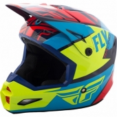 CASQUE CROSS FLY RACING ELITE GUILD rouge/bleu/jaune 2018 casques