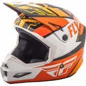 CASQUE CROSS FLY RACING ELITE GUILD orange/blanc 2018 casques