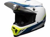 Casque BELL MX-9 Mips Gloss blanc/bleu/jaune casques