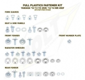 KITS VISSERIE PLASTIQUE BOLT YAMAHA 450 WR-F 2012-2017 kits visserie plastique