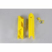 Protections de fourcheUFO jaunes HUSQVARNA 250 FE 2014-2019 protections fourche