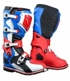 BOTTE CROSS  KENNY TITANIUM BLEU/BLANC/ROUGE bottes