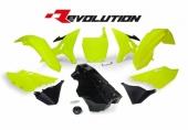 Kit plastiques RACETECH Revolution + réservoir jaune fluo/noir Yamaha 125 YZ 2002-2004 kit plastiques racetech