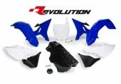 Kit plastiques RACETECH Revolution + réservoir couleur origine bleu/blanc/noir Yamaha 125 YZ 2002-2004 kit plastiques racetech