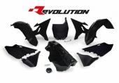 Kit plastiques RACETECH Revolution + réservoir noir Yamaha 125 YZ 2002-2004 kit plastiques racetech
