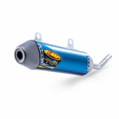SILENCIEUX FMF TITANE POWERCORE 2.1 anodise bleu SHORTY HUSQVARNA 250 TC 2017-2018 echappements