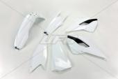 Kit plastiques UFO couleur origine blanc/noir Husqvarna 125 TE 2014 kit plastiques ufo