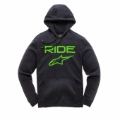 SWEAT ALPINESTARS RIDE 2.0 NOIR / VERT sweatshirt