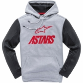 SWEAT ALPINESTARS FAN CLUB FLEECE GRIS / ROUGE sweatshirt