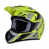 CASQUE CROSS AFX MATT NEON JAUNE/GRIS FX-17 casques