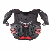 Pare-pierre MOTO CROSS ENFANT  LEATT 4.5 Pro noir/rouge  protections kids