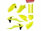 Kit plastique POLISPORT jaune fluo KTM  125 SX 2016-2018 plastique polisport
