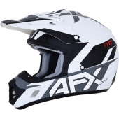 CASQUE CROSS AFX BLANC/ORANGE FX-17 casques