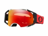 Masque OAKLEY Airbrake ROUGE/BLANC écran Prizm MX Torch Iridium lunettes