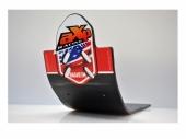 Semelle MX AXP Anaheim PHD noir/déco rouge HONDA 450 CR-F 2017-2018 sabots axp