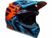 Casque CROSS BELL Moto-9 Mips Gloss Blue/Orange District  casques
