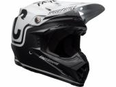 Casque CROSS BELL Moto-9 Mips Fasthouse Gloss/Matte noir/blanc  casques