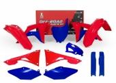 Kit plastique RACETECH bleu/rouge Honda 450 CR-F 2017-2018 kit plastiques racetech