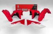Kit plastique RACETECH couleur origine 17 rouge/noir/blanc Honda 450 CR-F 2017-2018 kit plastiques racetech