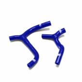 Durites de radiateur SAMCO kit transformation Y bleu 2 durites Kawasaki  450 KX-F 2016-2018 durite radiateur