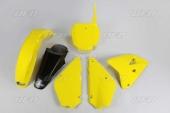 Kit plastiques UFO couleur origine 16 jaune /noir Suzuki 85 RM 2002-2016 kit plastiques ufo