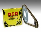 Kit chaine D.I.D 520 type DZ2 (couronne ultra-light anti-boue) HUSQVARNA 350 FC 2014-2018 kit chaine