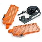 KIT VENTILATEUR TRAIL TECH + protections radiateur KTM 350 EXC-F 2012-2013 ventilateur trail tech