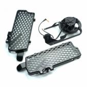 KIT VENTILATEUR TRAIL TECH + protections radiateur HUSABERG 250 FE 2013-2014 ventilateur trail tech