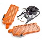 KIT VENTILATEUR TRAIL TECH + protections radiateur KTM 450 EX-C/EXC-R 2008-2011 ventilateur trail tech