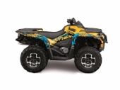 Kit déco KUTVEK Rotor jaune Can-Am Outlander G1 2005-2011 kit deco quad et ssv