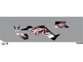 Kit déco KUTVEK Rotor noir Kymco Maxxer 300 TOUTES kit deco quad et ssv
