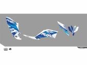 Kit déco KUTVEK Rotor bleu YAMAHA YFM250 Raptor 2005-2014 kit deco quad et ssv