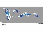 Kit déco KUTVEK Rotor bleu YAMAHA  Raptor 700 2003-2013 kit deco quad et ssv