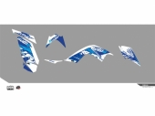 Kit déco KUTVEK Rotor bleu YAMAHA  Raptor 700 2014-2017 kit deco quad et ssv