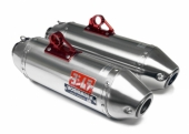 Silencieux Yoshimura USA RS2 Dual alu/casquette inox CAN AM 1000 Maverick 2013-2014 echappements quad