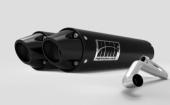 Ligne échappement HMF Performance Series double silencieux inox brossé/casquette  noire Can Am Maverick Turbo 2015-2017 echappements quad