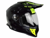 Casque JUST1 J34 Adventure Shape NOIR/JAUNE FLUO casque quad