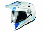 Casque JUST1 J34 Adventure Shape BLANC/BLEU casque quad