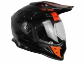 Casque JUST1 J34 Adventure Shape NOIR/ROUGE FLUO casque quad
