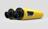 Silencieux HMF Performance Series double jaune/casquette Turn Down noire CAN AM 1000 Renegade 2012-2016 echappements quad
