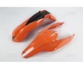 KIT GARDE BOUE UFO ORANGE KTM EX-C 125 ET + 2008-2011 kit garde boue ufo av et ar