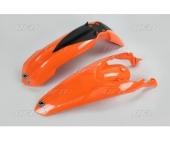 KIT GARDE BOUE UFO ORANGE KTM EX-C 125 ET + 2012-2013 kit garde boue ufo av et ar