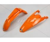 KIT GARDE BOUE UFO ORANGE KTM EX-C 125 ET + 2014-2016 kit garde boue ufo av et ar