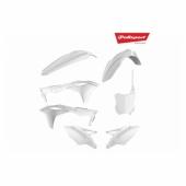 Kit plastiques POLISPORT blanc KAWASAKI 250 KX-F 2017-2018 plastique polisport