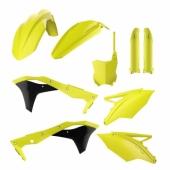 Kit plastiques POLISPORT JAUNE FLUO KAWASAKI 250 KX-F 2017-2018 plastique polisport