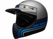 Casque BELL Moto-3 Matte ARGENT/NOIR/BLEU casque
